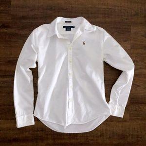 Ralph Lauren White Button Down Slim Fit Shirt 4